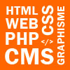 webmaster graphiste programmation développement php css cms php html