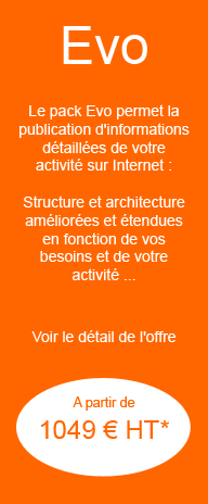 Pack Evo site internet entreprise professionnel facebook twitter blog pages perso